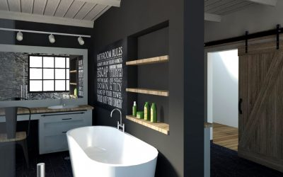 Modern Country Style Bathroom Meets Industrial