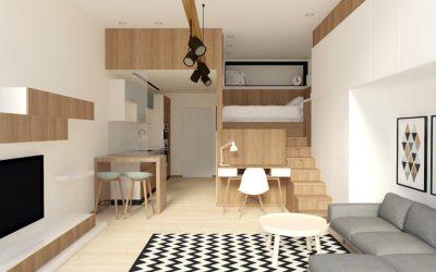 Small Scandinavian Studio Apartment