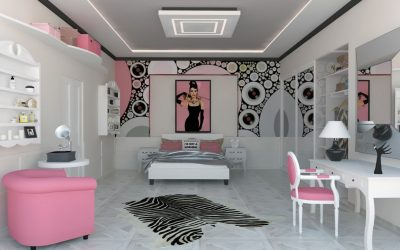 Girls Room With Touch Of 60's