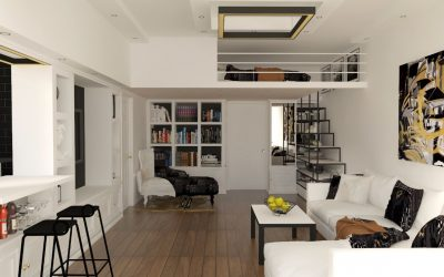 Eclectic Studio Apartment With Loft Bed